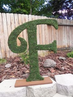 Moss Letters WITH STAND Rustic Wedding  Wedding by RedRobynLane, $87.00