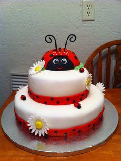 Delightful Lady Bug Baby Shower Cake