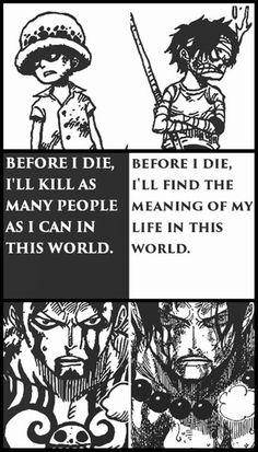 Law y Ace, dos grandes personajes, por desgracia, uno de ellos muerto
