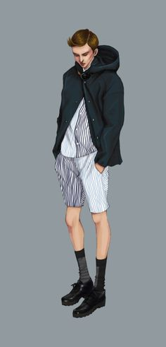 Marni S/S 2013 by Natalie Suarez Illustration.Files: S/S 2013 Menswear Look Book Illustrations by Natalie Suarez