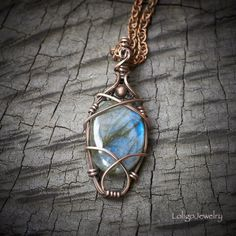 Your place to buy and sell all things handmade Labradorite Jewelry, Copper Jewelry, Wire Jewelry, Pendant Jewelry, Jewelry Crafts, Jewelery, Wire Wrapped Necklace, Wire Wrapped Pendant, Custom Jewelry