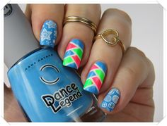 Nail Art: Fishtail Nails mit Striping Tape