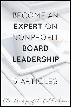 9 Helpful Articles on Nonprofit Board Leadership