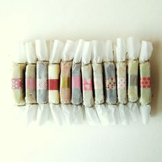 wrap with wax paper and washi tape