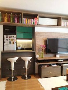 Cozinha americana projetada por Marcos Apoitia.