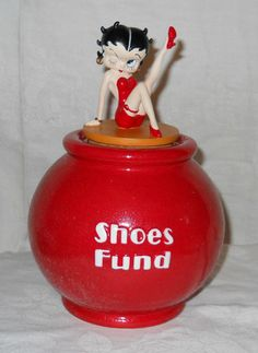 """Collectible Betty Boop """"Shoes Fund"""" Jar.  
