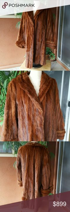 Full length Mink Coat 1950s full length Mink Coat. Beautiful rich red color. In fabulous vintage condition. This coat is so luxurious. Jackets & Coats