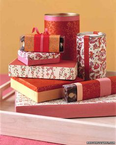 Candy Box Wrap | Martha Stewart Living - Give candy boxes a finishing touch that won't be ripped away when your present is opened.