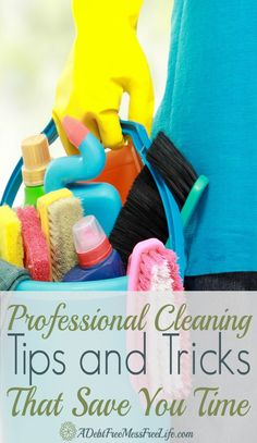 Looking for a way to cut down on the amount of time you spend cleaning? My professional cleaning tips and hacks will help to get back that lost motivation to clean. You'll be living in a clean house, and you won't spend all day cleaning! Deep Cleaning Tips, House Cleaning Tips, Diy Cleaning Products, Cleaning Solutions, Spring Cleaning, Cleaning Hacks, Cleaning Checklist, Commercial Cleaning Products, House Cleaning Motivation