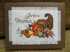 give thanks cross stitch