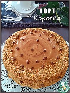 """Арахисовый торт """"Коровка"""" - кулинарный рецепт"""
