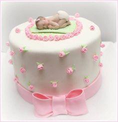 Baby shower cakes for girls girl baby shower cake - cakecentral. Baby Shower Cakes Pictures, Cake Pictures, Shower Bebe, Girl Shower, Torta Baby Shower, Baby Mold, Baby Girl Cakes, Baby Cakes, Fondant Baby