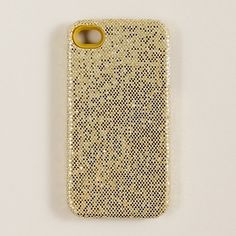gold sparkly iphone case from j. crew