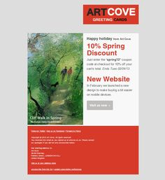 10% off Greeting Card Discount Code on all Art Cove Greeting Cards UK.