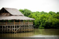 Bamboo hut on the sea