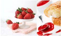 Erdbeer Rhabarber Marmelade mit Granatapfelsirup