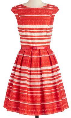Striped dress in #orange http://rstyle.me/n/ich39nyg6