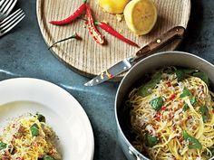 Crab Linguine with Basil, Lemon & Chile
