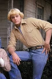 John Schneider as Bo Duke on the set of The Dukes of Hazzard John Schneider, Bo Duke, Dukes Of Hazard, Catherine Bach, Tan Shirt, 70s Tv Shows, Def Leppard, Teen Boys, Old Tv