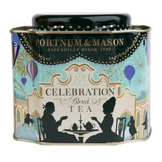 Fortnum and Mason: Celebration tea. A strong Assam blend lightened with jasmine {serve without milk} 15.00£ The tin caddy is spectacular!