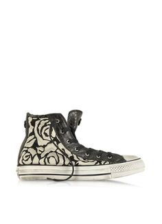 Converse Limited Edition All Star HI White Roses Canvas and Textile LTD Sneaker, 9.5, $166.80