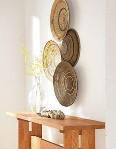 Woven Basket Wall Art tonga basket decoration idea | basket styling ideas | pinterest