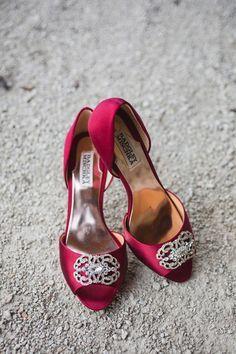 Red bridal shoe idea