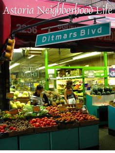 24 hour fresh vegetable shopping in Ditmars Queens Nyc, Queens New York, Astoria New York, Astoria Queens, Vegetable Shop, New York Night, News Cafe, New York Christmas, Places To Eat