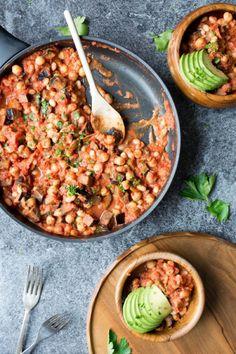 vegane Gerichte -abendessen-30-minuten-eintopf-kichererbsen-aubergine