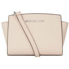 MICHAEL Michael Kors Mini Selma Messenger Bag ($230) ❤ liked on Polyvore featuring bags, messenger bags, courier bag, crossbody messenger bag, mini cross body, cross body and crossbody bags