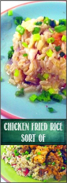 Chicken Fried Rice... well, not really, But it has all the flavor and ingredients for fried rice but still moist, tender and chewy! And so useful if you are making Chinese Take out at home, the blog post has the recipe for the rice and lots of links for recipes for take out made at home!