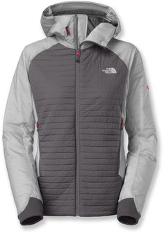At REI Outlet: Women's The North Face Polar Hooded Jacket. Works well for rigorous outdoor activities in cold weather.