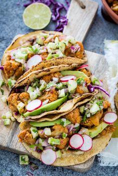 #GlutenFree #Vegan Chipotle Cauliflower Tacos with Green Apple Salsa  |  Keepin' It Kind