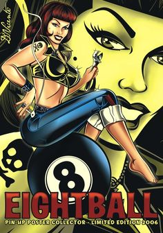 Pin-ups Posters Collection by DAVID VICENTE, via Behance
