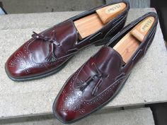 Johnston & Murphy Used Burgundy Leather Dress Loafers 11 C by VintageClassicWares on Etsy https://www.etsy.com/listing/478519522/johnston-murphy-used-burgundy-leather