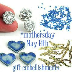 I have lots of great embellishments in my Etsy shop great for decorating cards, gift wrapping and personalised gifts for mum this Mothers Day