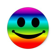 Rainbow Smiley Stickers