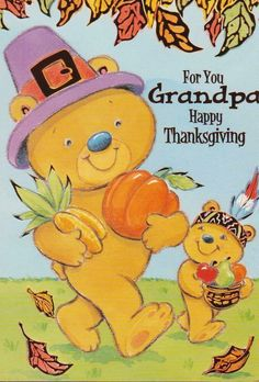 Thanksgiving Greeting Cards, Happy Thanksgiving, Winnie The Pooh, Ebay, Happy Thanksgiving Day, Winnie The Pooh Ears, Pooh Bear