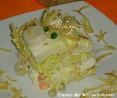 Torta fria de frango e Palmito - Espaço das delícias culinárias