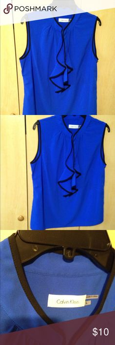 Blouse great for the office Blue/Black Calvin Klein Tops Blouses