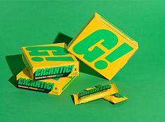 'Gigantic!' Brand Identity Is Bold And Bombastic | Dieline - Design, Branding & Packaging Inspiration Cool Packaging, Print Packaging, Food Packaging Design, Packaging Design Inspiration, Identity Design, Brand Identity, Food Branding, Branding Ideas, Candy Brands