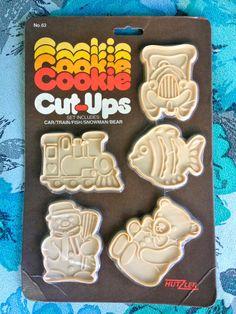 Vintage 1980's Hutzler Cookie CutUps Plastic by ElkHugsVintage, $10.00