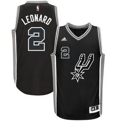 new product ea0ba cd520 Kawhi Leonard San Antonio Spurs adidas Alternate Swingman Jersey - Black