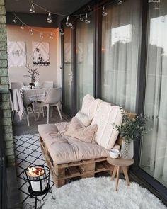 Small Balcony Design, Small Balcony Decor, Small Patio, Balcony Decoration, Patio Balcony Ideas, Patio Ideas, Small Balcony Furniture, Cozy Patio, Outdoor Balcony