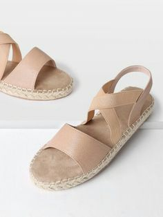 6dc980d280871 SHEIN offers Criss Cross Strap Woven Sandals   more to fit your fashionable  needs.