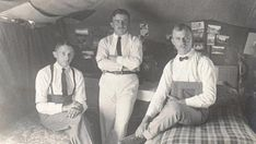 Well-groomed POWs inside their tents. A Hundred Years, Prisoners Of War, Wwi, Maltese, Tents, German, Camping, Poses, Couple Photos