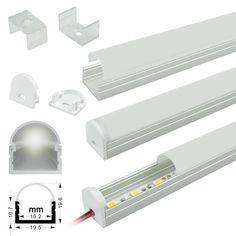 Surface Mount - Aluminum Extrusion Profile LED Strip Fixture Channel - Strip Light Housing [AL2016] - $12.50 : ledbulbs123.com