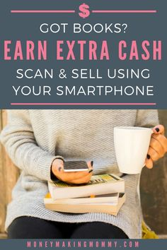 Use your smartphone to appraise and sell books you've got laying around that you no longer want. lets you sell books using their app. Sell Books For Cash, Sell Used Books Online, Make Money Now, Make Money From Home, Earn Extra Cash, Extra Money, Garage Sale Tips, Where To Sell, Job Info