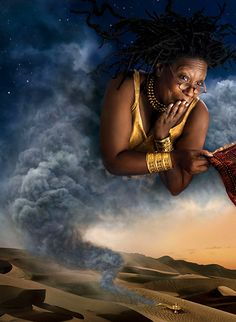 Whoopi Goldberg as Genie - photo series by Annie Liebowitz