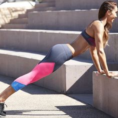 Splice up your life with our tri-toned Sporty Splice 7/8 Tights